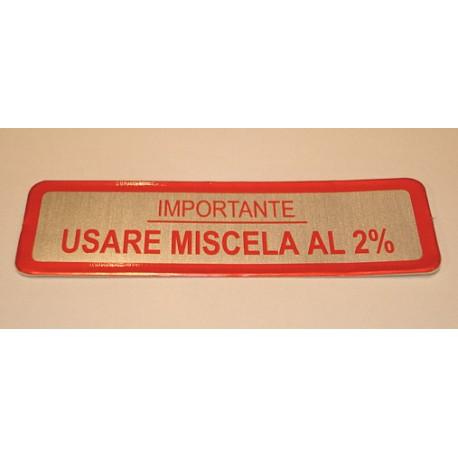 ADESIVO USARE MISCELA 2%