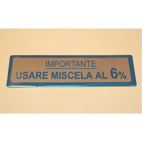 ADESIVO USARE MISCELA 6%