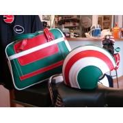Borsa e Casco Vintage Tricolore